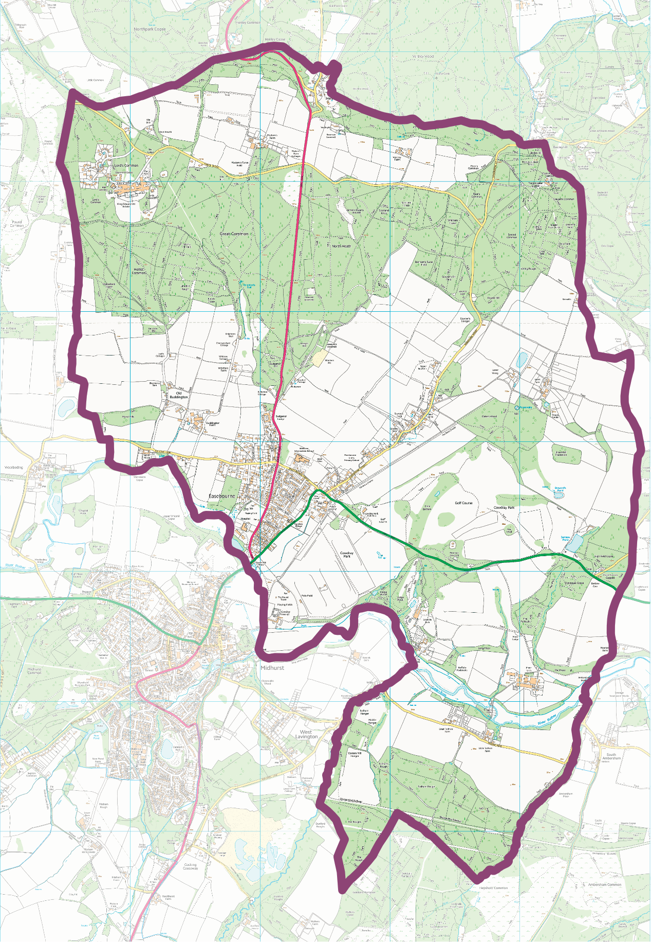 Map of Easebourne